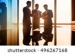 asian business people having... | Shutterstock . vector #496267168