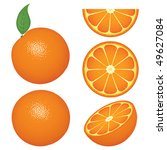 isolated orange fruits and... | Shutterstock .eps vector #49627084