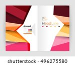 vector triangle design abstract ... | Shutterstock .eps vector #496275580