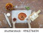 making pizza. | Shutterstock . vector #496276654