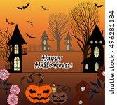 vector image. halloween. use... | Shutterstock .eps vector #496281184