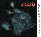 terrain big data visualization. ... | Shutterstock .eps vector #496282840