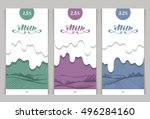 vector set of templates... | Shutterstock .eps vector #496284160