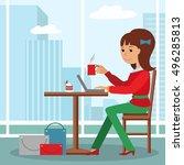 vector illustration of template ... | Shutterstock .eps vector #496285813