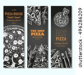 pizza banner design template.... | Shutterstock .eps vector #496286209