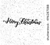 merry christmas   freehand ink... | Shutterstock .eps vector #496287088