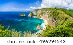amazing bright panoramic... | Shutterstock . vector #496294543