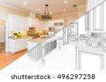 diagonal split screen of... | Shutterstock . vector #496297258