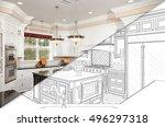 diagonal split screen of... | Shutterstock . vector #496297318