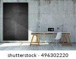 3d rendered industrial style...   Shutterstock . vector #496302220