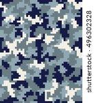 seamless pattern of digital... | Shutterstock .eps vector #496302328