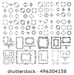 frames. decorative elements.... | Shutterstock .eps vector #496304158