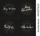 set hand lettering and... | Shutterstock .eps vector #496307614