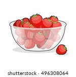 Strawberries In Glass Bowl....