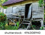 Abandoned Wooden House In...