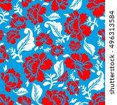 russian national flower pattern....   Shutterstock . vector #496313584