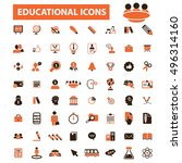 education icons | Shutterstock .eps vector #496314160
