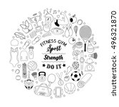 vector handdrawn  illustration... | Shutterstock .eps vector #496321870