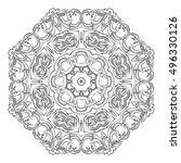 vector illustration of mandala  ...   Shutterstock .eps vector #496330126