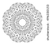 vector illustration of mandala  ... | Shutterstock .eps vector #496330153