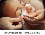 beautician making artificial... | Shutterstock . vector #496334758