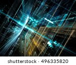 abstract future technology... | Shutterstock . vector #496335820
