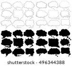different speech bubble designs ...   Shutterstock .eps vector #496344388