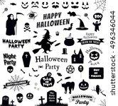 set halloween party | Shutterstock .eps vector #496346044