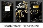 vector set ink marbling texture ...   Shutterstock .eps vector #496346320