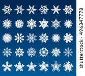set of snowflakes | Shutterstock . vector #496347778