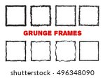 set of hand drawn squares.... | Shutterstock .eps vector #496348090