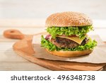 Big Burger With Beef. Fastfood...