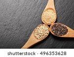 quinoa  chia and amarantus... | Shutterstock . vector #496353628