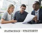 business communication... | Shutterstock . vector #496353859