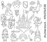 magic cute baby vector set with ... | Shutterstock .eps vector #496356538