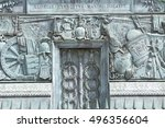 details of the place vendome... | Shutterstock . vector #496356604