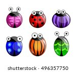 funny cute cartoon colorful... | Shutterstock .eps vector #496357750