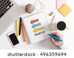 business task target priorities ...   Shutterstock . vector #496359694