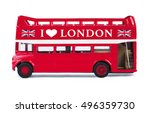 london bus toy isolated on... | Shutterstock . vector #496359730