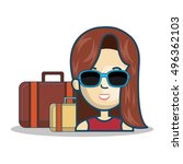 travel icon design | Shutterstock .eps vector #496362103