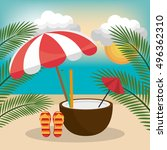summer vacations design | Shutterstock .eps vector #496362310
