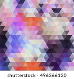 abstract triangle violet... | Shutterstock .eps vector #496366120