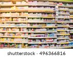 blurred image of vitamin store... | Shutterstock . vector #496366816