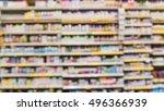 blurred image vitamin store... | Shutterstock . vector #496366939