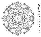 vector illustration of mandala  ... | Shutterstock .eps vector #496367380