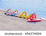 Pedal Boats On Beach