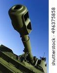 cannon barrel of powerful green ... | Shutterstock . vector #496375858