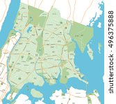 new york city map  | Shutterstock .eps vector #496375888