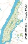 new york map | Shutterstock .eps vector #496375930
