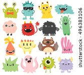 Cute Monster Color Character...